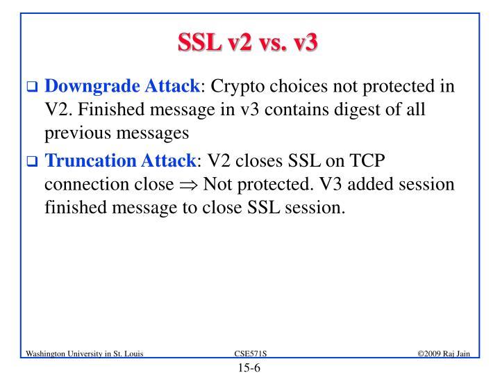 SSL v2 vs. v3
