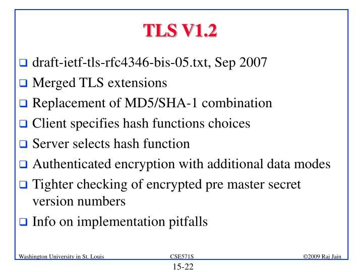TLS V1.2