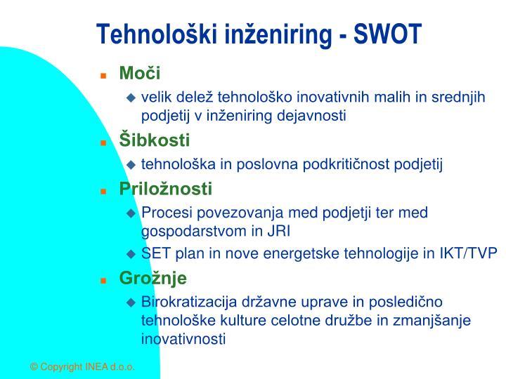 Tehnološki inženiring - SWOT