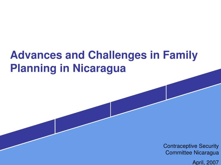 Advances and challenges in family planning in nicaragua