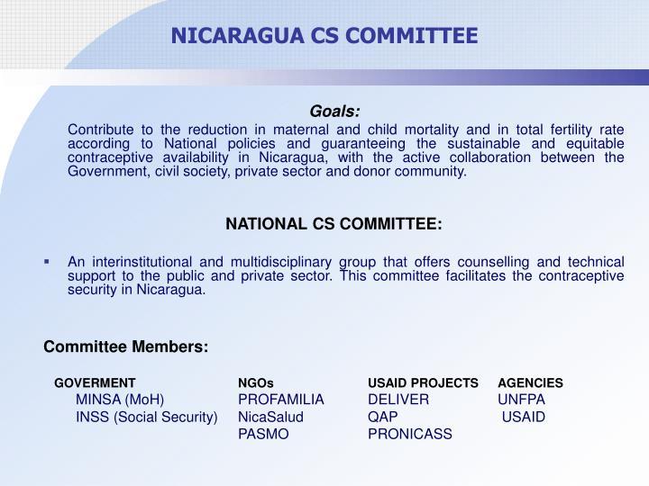 NICARAGUA CS COMMITTEE