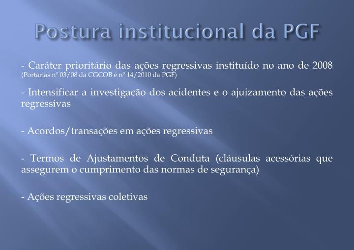 Postura institucional da PGF