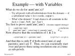 example with variables
