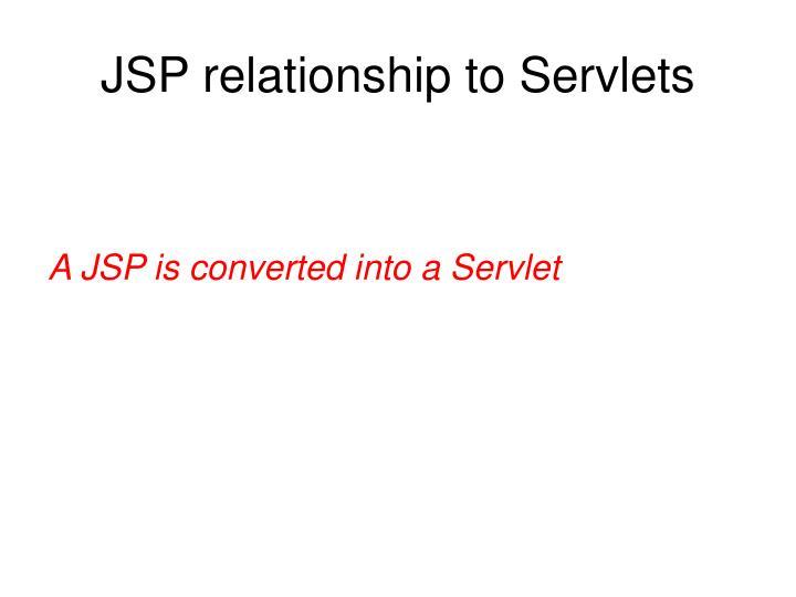 JSP relationship to Servlets