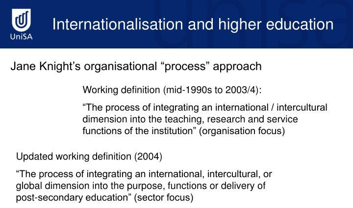 Internationalisation and higher education