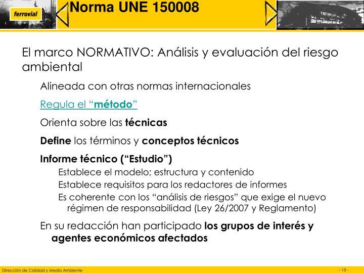 Norma UNE 150008