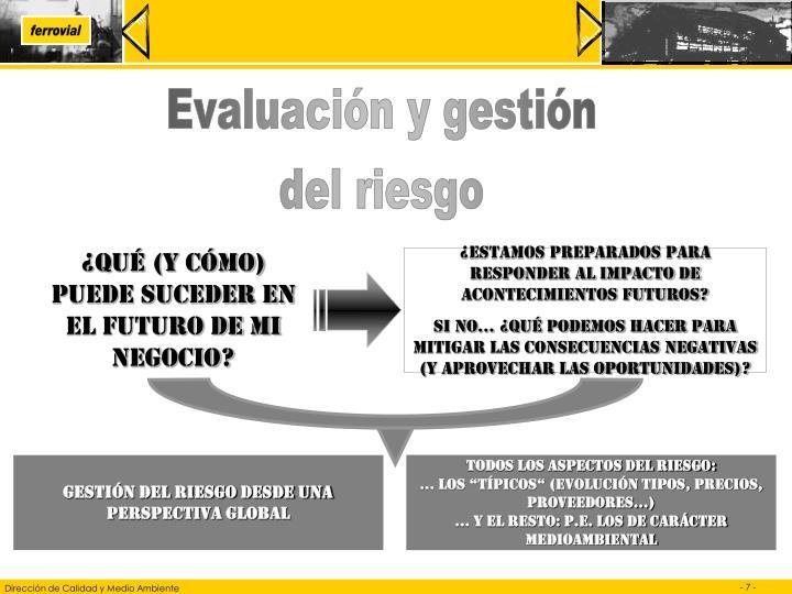Evaluación y gestión