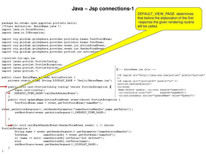Java – Jsp connections-1