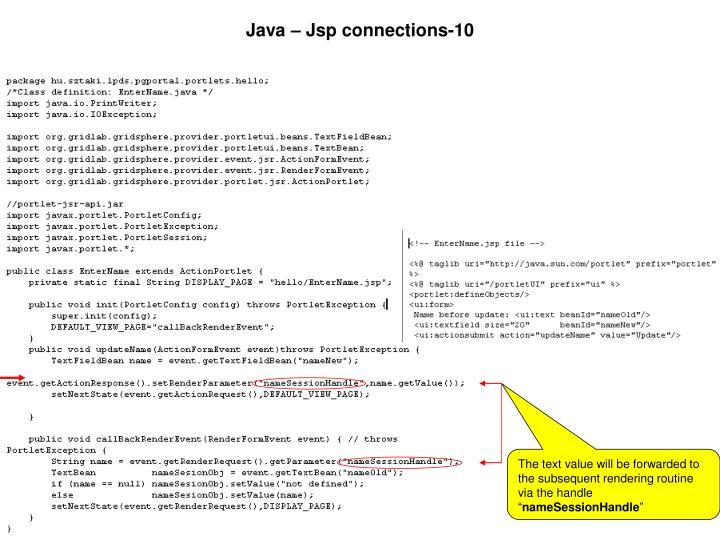 Java – Jsp connections-10