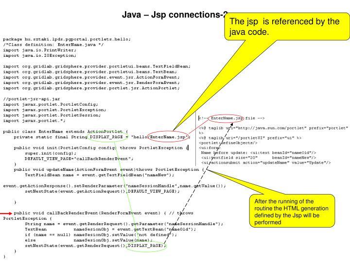 Java – Jsp connections-2