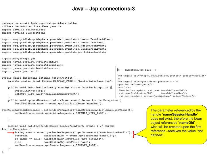 Java – Jsp connections-3
