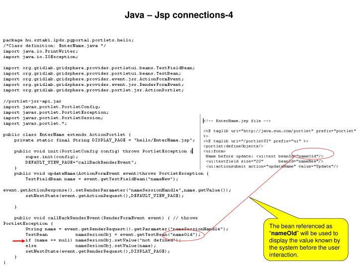 Java – Jsp connections-4