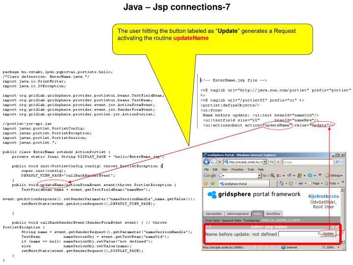 Java – Jsp connections-7