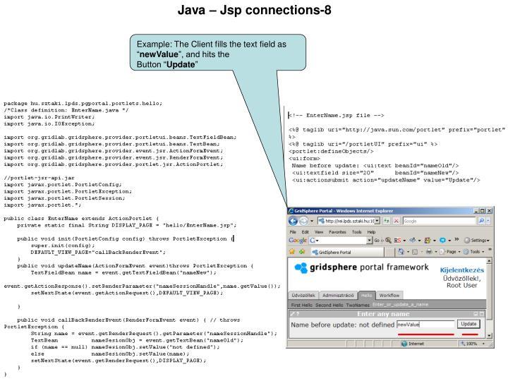 Java – Jsp connections-8