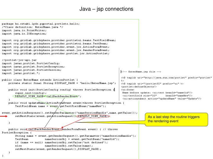 Java – jsp connections