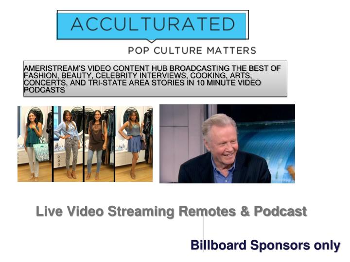 Live Video Streaming Remotes & Podcast