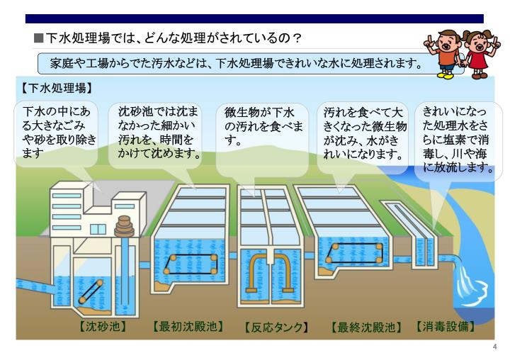 下水処理場では、どんな処理がされているの?