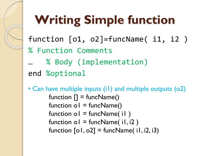 Writing simple function