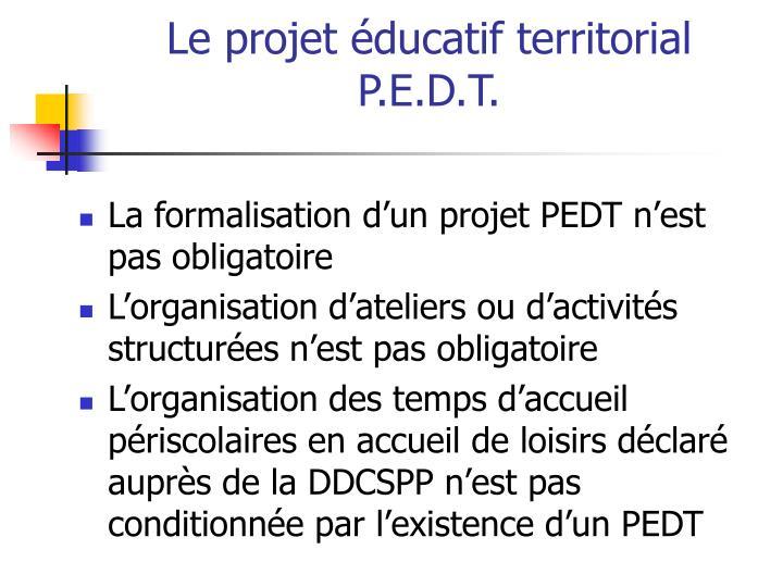 Le projet éducatif territorial