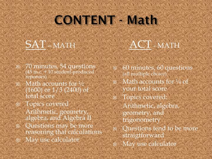 CONTENT - Math