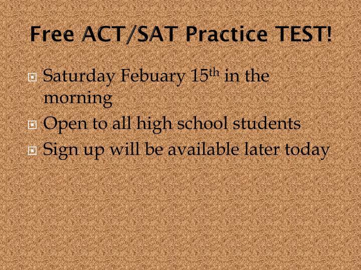 Free ACT/SAT Practice TEST!