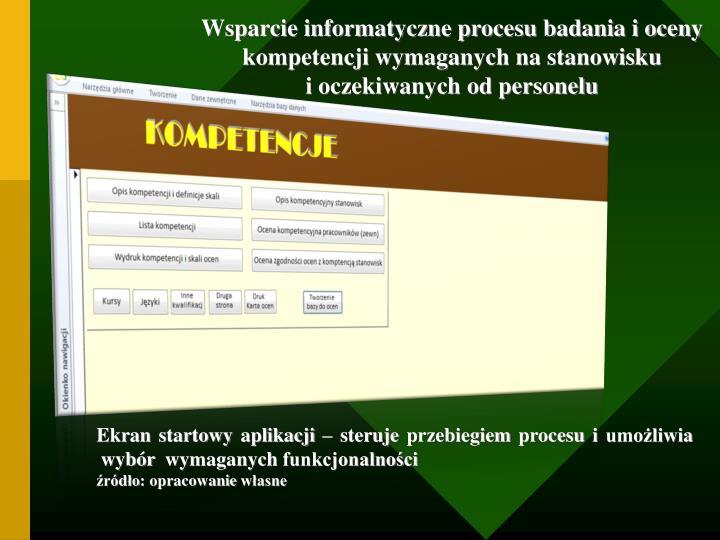 Wsparcie informatyczne procesu badania i oceny kompetencji wymaganych na stanowisku