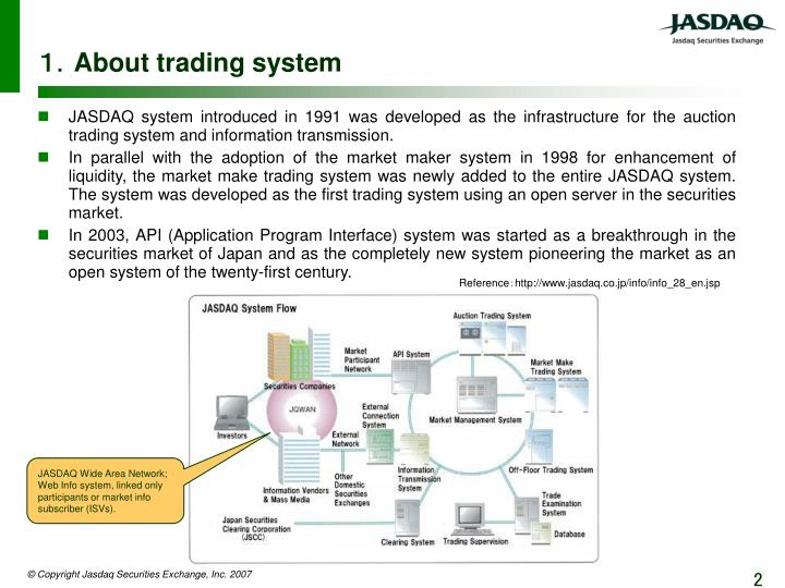 About trading system