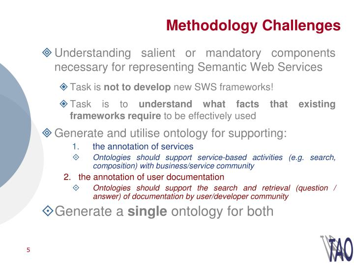 Methodology Challenges