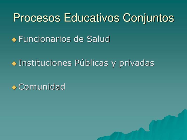 Procesos Educativos Conjuntos