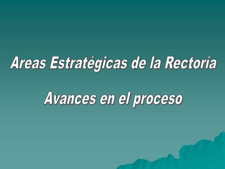 Areas Estratégicas de la Rectoría
