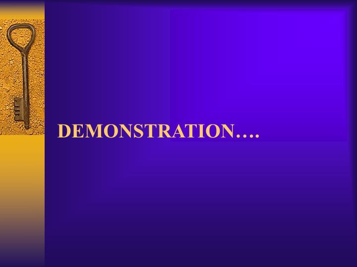 DEMONSTRATION….