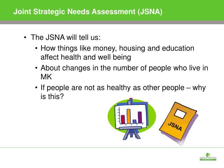 Joint Strategic Needs Assessment (JSNA)