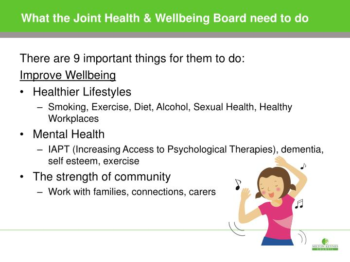 What the Joint Health & Wellbeing Board need to do