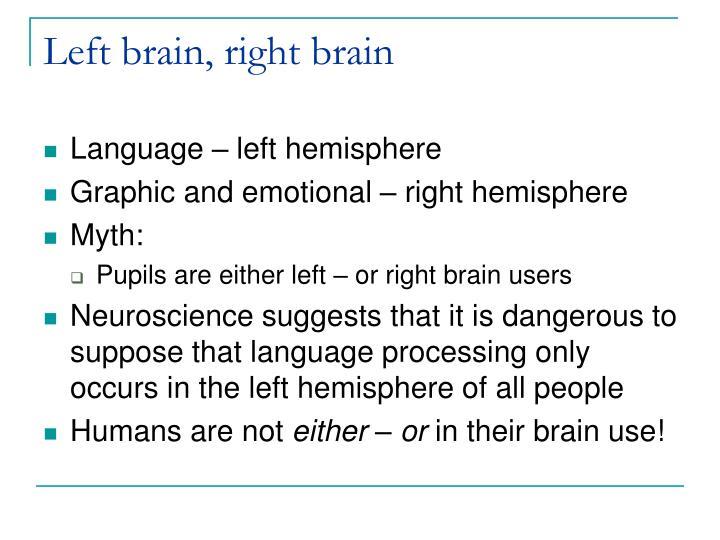 Left brain, right brain