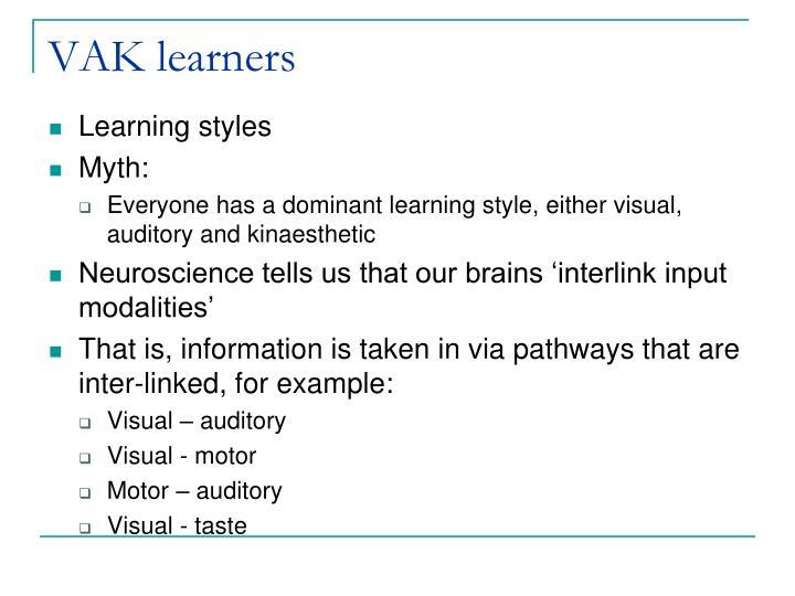 VAK learners