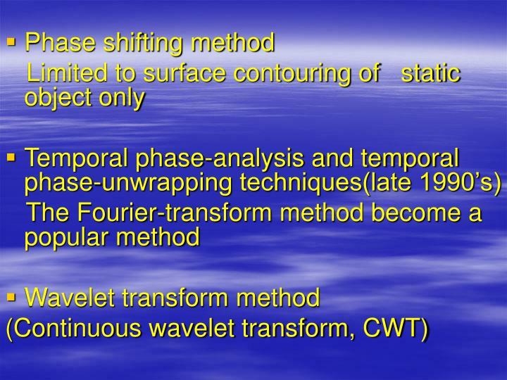 Phase shifting method