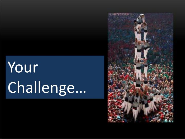 Your Challenge…