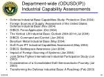 department wide odusd ip industrial capability assessments