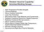 related industrial capability activities working groups