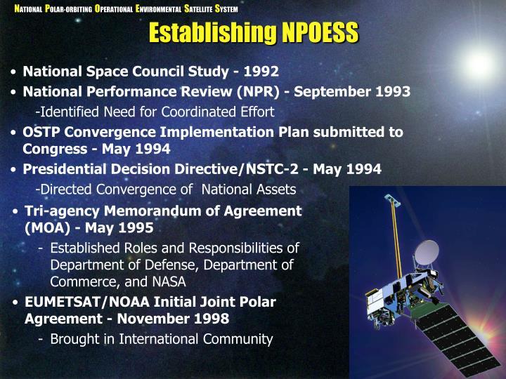 Establishing NPOESS