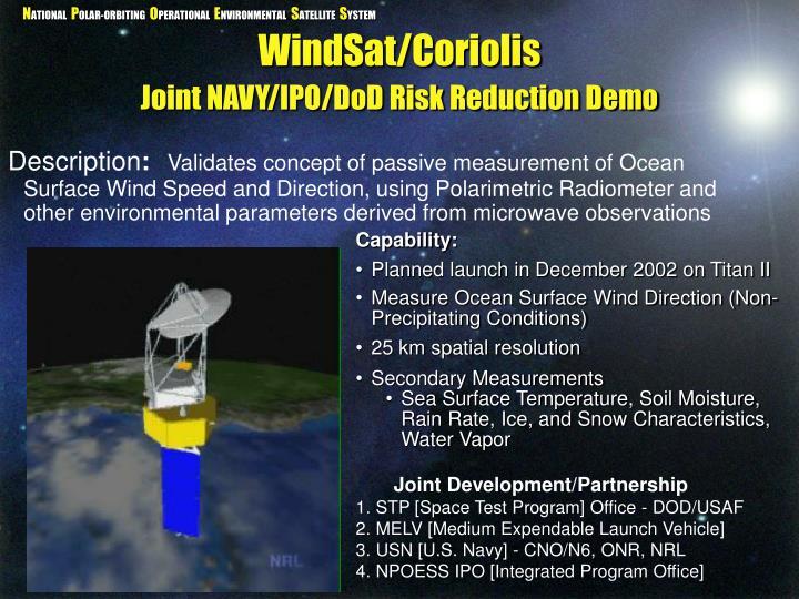 WindSat/Coriolis