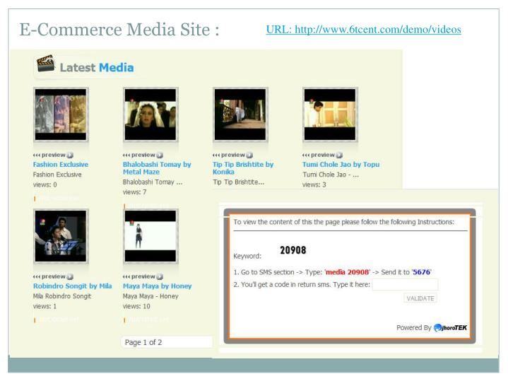E-Commerce Media Site :