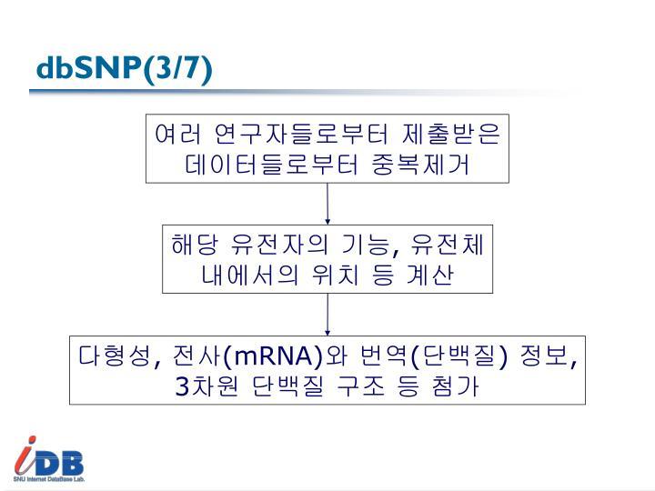 dbSNP(3/7)