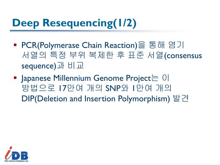 Deep Resequencing(1/2)
