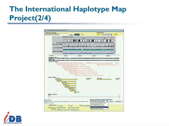 The International Haplotype Map Project(2/4)
