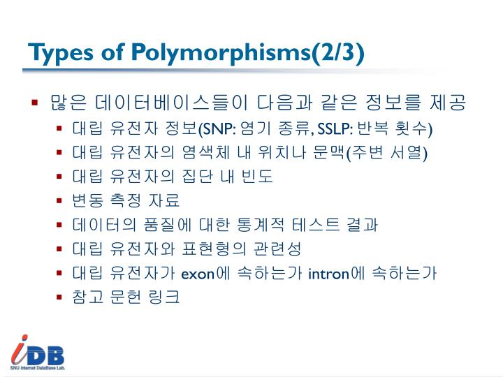 Types of Polymorphisms(2/3)