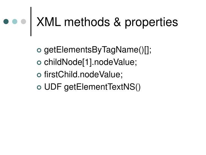XML methods & properties