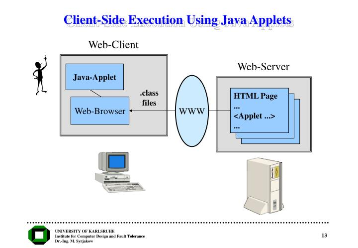 Client-Side Execution Using Java Applets