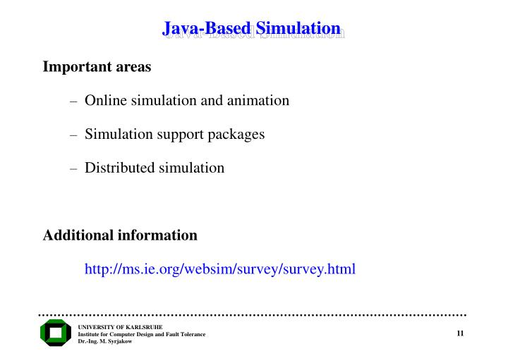 Java-Based Simulation