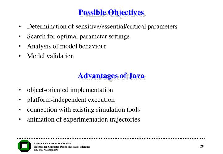 Possible Objectives
